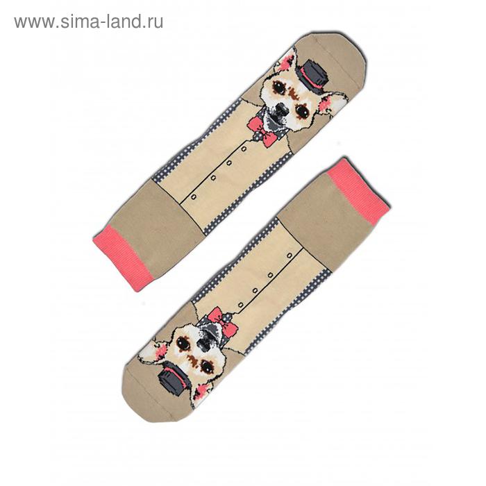 Носки мужские НМ29-3039, цвет серо-бежевый, р-р 27-29