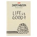Бизнес-блокнот (скетчбук) А6, 80 листов Life is Good!, твёрдая обложка, блок 100 г/м2