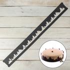 """Форма кондитерская-трафарет для шоколада 78,5х8,5 см """"Пламя"""", цвет чёрный - фото 308040659"""