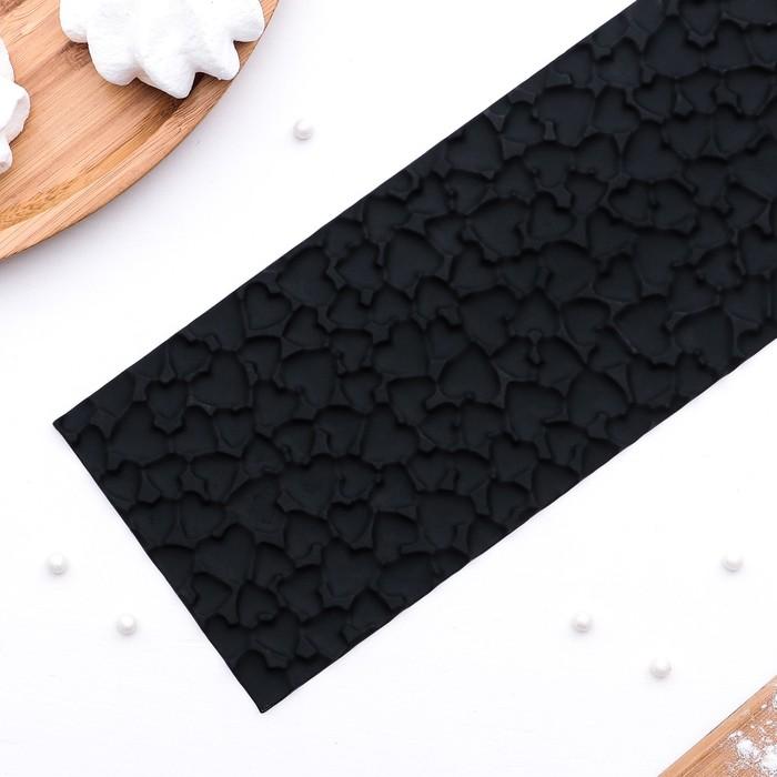 "Форма кондитерская-трафарет для шоколада ""Лав"" 89,5х8,5х0,2 см, цвет черный"