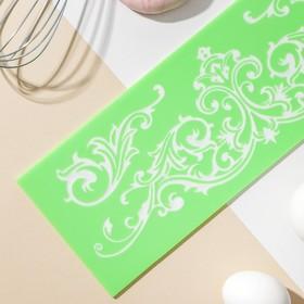 Коврик для айсинга Доляна «Вензель», 34×11,5 см, цвет МИКС
