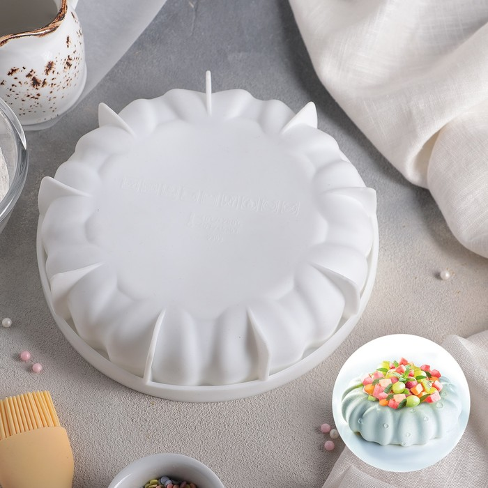 Форма для муссовых десертов и выпечки «Муссиль», 19×4,7 см, цвет белый - фото 308045713