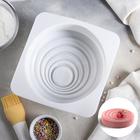 Форма для муссовых десертов и выпечки «Рябь», 16×6,5 см, цвет белый - фото 308045022