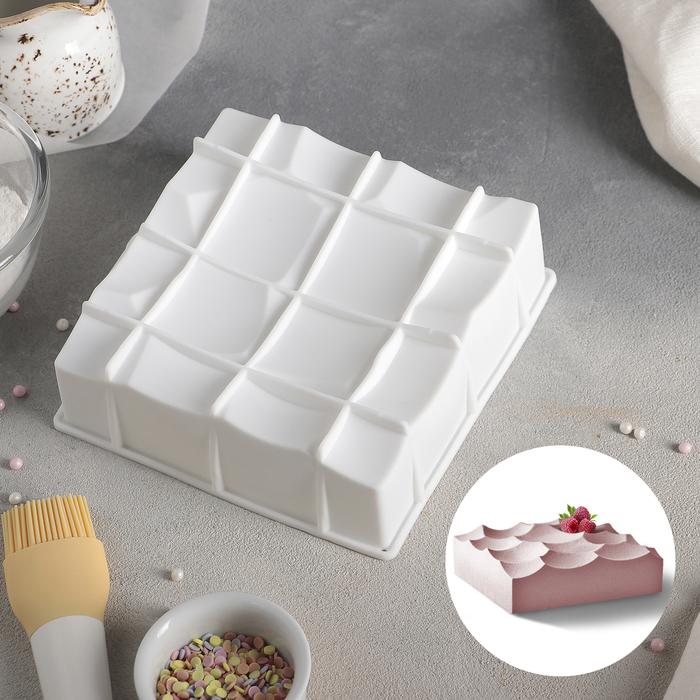 """Форма для муссовых десертов и выпечки 16×5,5 см """"Морская пена"""", цвет белый"""
