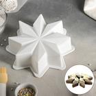 Форма для муссовых десертов и выпечки «Звезда», 22×6 см, цвет белый - фото 308045747