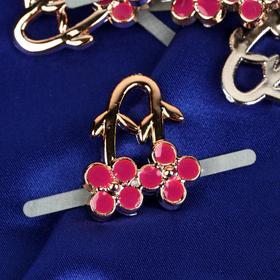 Декоративные элементы на прокол «Цветы», 2,7 × 2,2 см, 10 шт, цвет золотой