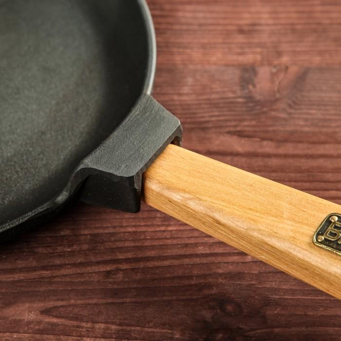 Сковорода чугунная блинная BRIZOLL, ручка