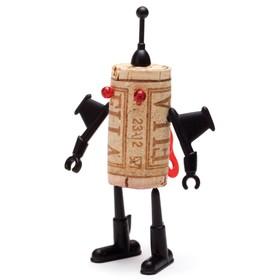 Декор для винной пробки robots юри