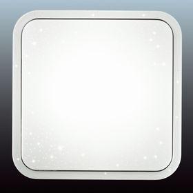 Светильник KVADRI 28W LED белый, хром 43x43x6,8см