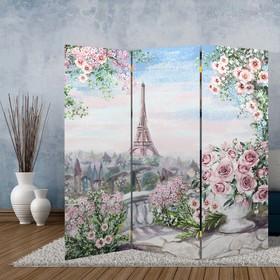 """Ширма """"Картина маслом. Розы и Париж"""", 160 × 150 см"""