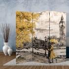 "Screen ""oil Painting. Walk around London"", 160 × 150 cm"