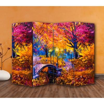 """Ширма """"Картина маслом. Мост в саду"""", 200 × 160 см"""