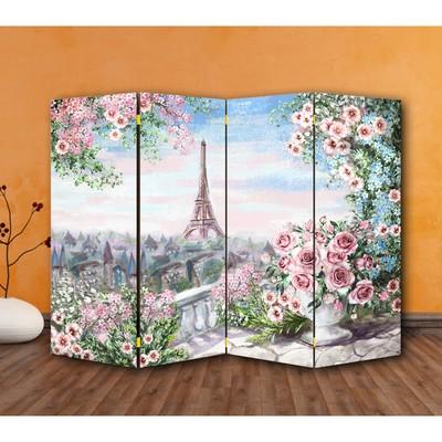 """Ширма """"Картина маслом. Розы и Париж"""", 200 × 160 см"""