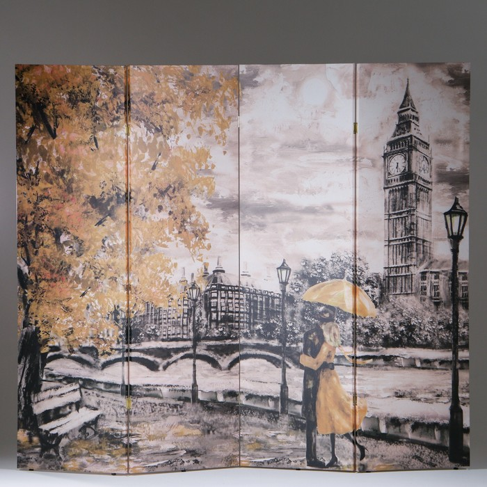 """Ширма """"Картина маслом. Прогулка по Лондону"""", 200 × 160 см"""