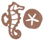Набор ножей для вырубки, тиснения и нанесения узора по трафарету  «Морские» 2 шт
