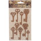 """Пробковые стикеры для декора """"Ключи"""" набор 9 элементов (IS-10)"""