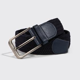 Men's belt, metal buckle, width 4 cm, color blue