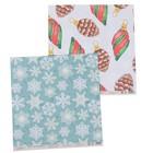 """Бумага для скрапбукинга """"Новый год. Игрушки и снежинки"""" 30,5х30,5 см  190г/м2"""