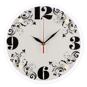 """Часы настенные, серия: Классика, """"Узоры"""", 30х30  см, микс"""