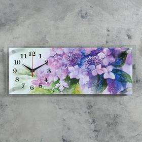 """Часы настенные, серия: Цветы, """"Букет цветов"""", 20х50 см микс"""