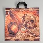 """Пакет """"Морское путешествие"""", полиэтиленовый с петлевой ручкой, 42х44 см, 70 мкм - фото 177690220"""