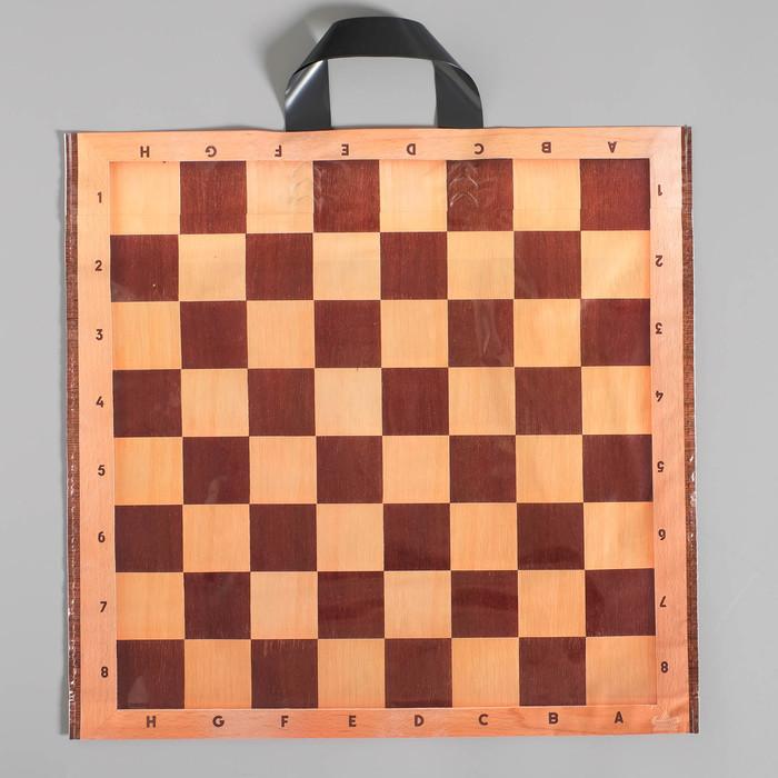 """Пакет """"Шах и мат"""", полиэтиленовый с петлевой ручкой, 42х44 см, 70 мкм - фото 308291725"""