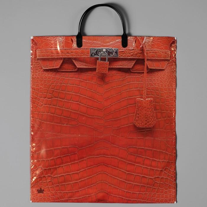 """Пакет """"Рыжая сумочка"""", полиэтиленовый с пластиковой ручкой, 44 х 40 см, 100 мкм - фото 308291727"""