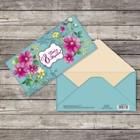 Конверт для денег «8 марта», весенние цветы, 16,5 х 8 см