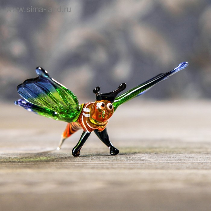 "Сувенир из стекла средняя ""Бабочка"", 7,5 х 10 х 5 см"