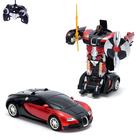 Робот-трансформер радиоуправляемый Bugatti Veyron, работает от аккумулятора, масштаб 1:14, МИКС mz 2315P