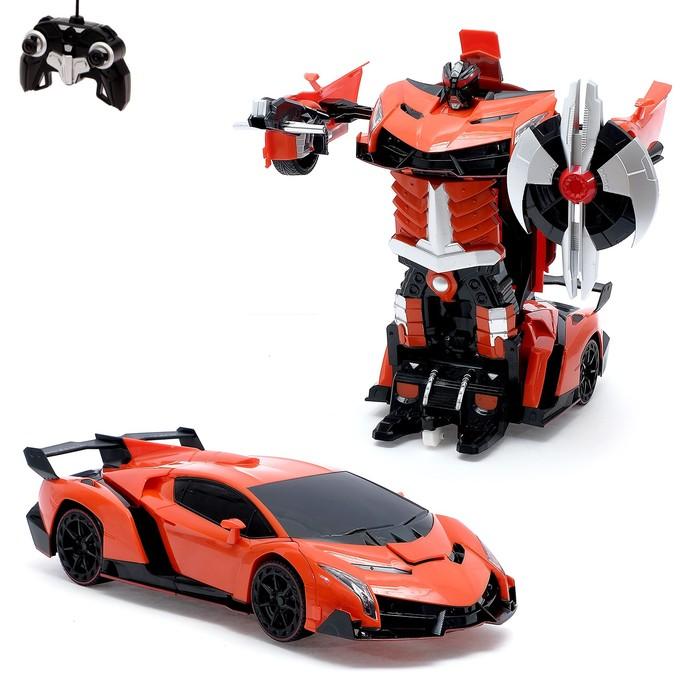 """Робот-трансформер радиоуправляемый """"Автобот"""", с аккумулятором, масштаб 1:14 mz 2319P"""