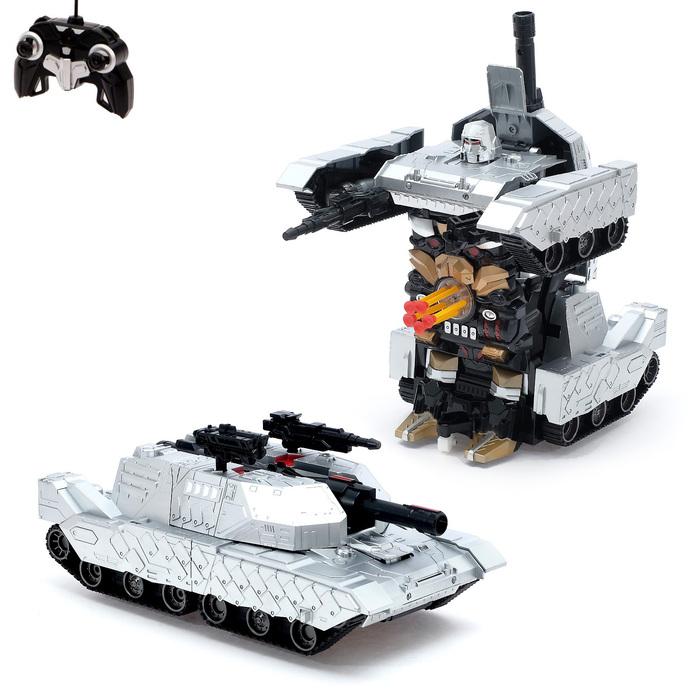 """Робот-трансформер радиоуправляемый """"Танк"""", с аккумулятором, масштаб 1:10 mz 2327PF"""