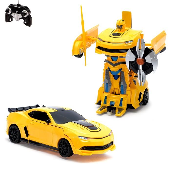 """Робот-трансформер радиоуправляемый """"Автобот"""", с аккумулятором, масштаб 1:22 mz 2342X"""
