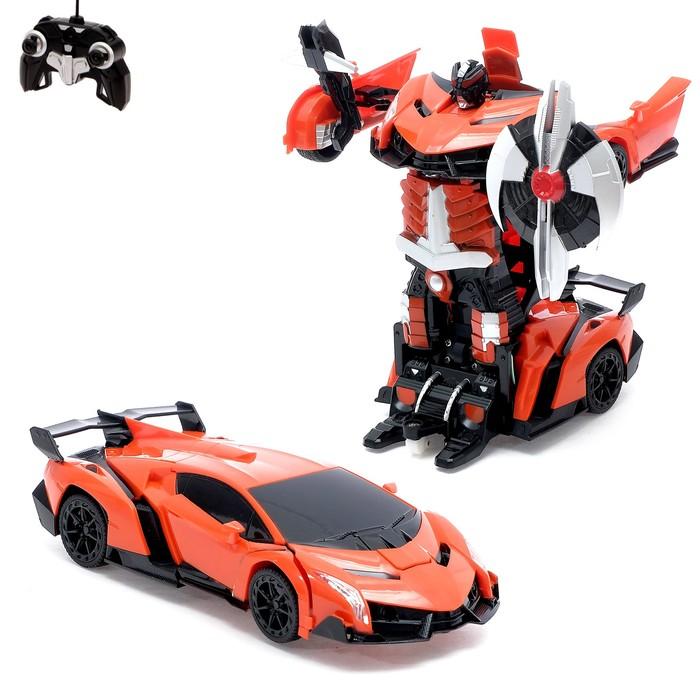 Робот-трансформер радиоуправляемый Lamborghini Veneno, работает от аккумулятора, масштаб 1:22, МИКС mz 2333XMZ