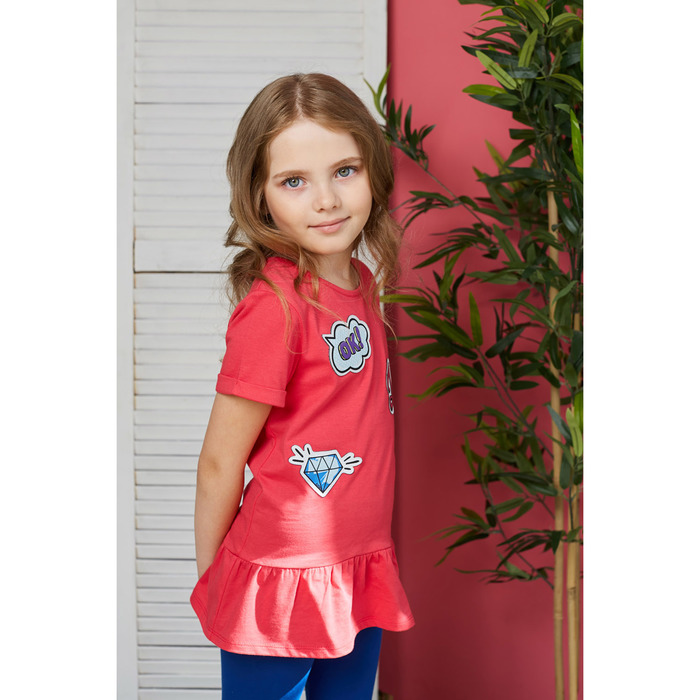 Туника для девочки, рост 98/104, см, цвет малиновый