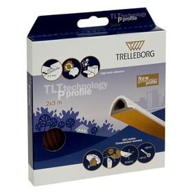 Уплотнитель для окон, профиль P, на клейкой основе, коричневый, в упаковке 6 м Ош