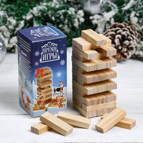 """Christmas leaning tower """"game Time"""", 36 bars, 12h4.5 cm"""