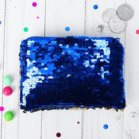 """Wallet """"Northern lights"""" blue"""