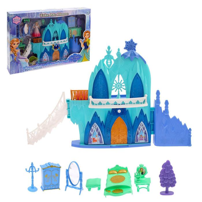 """Замок для кукол """"Сказка"""" с аксессуарами, световые и звуковые эффекты"""