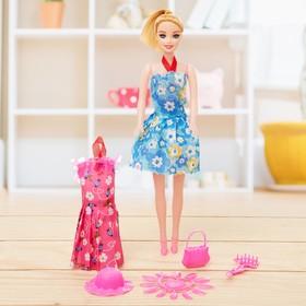 """Кукла модель """"Наташа"""" в платье с аксессуарами, МИКС"""
