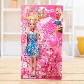 Кукла модель «Наташа» в платье с аксессуарами, МИКС