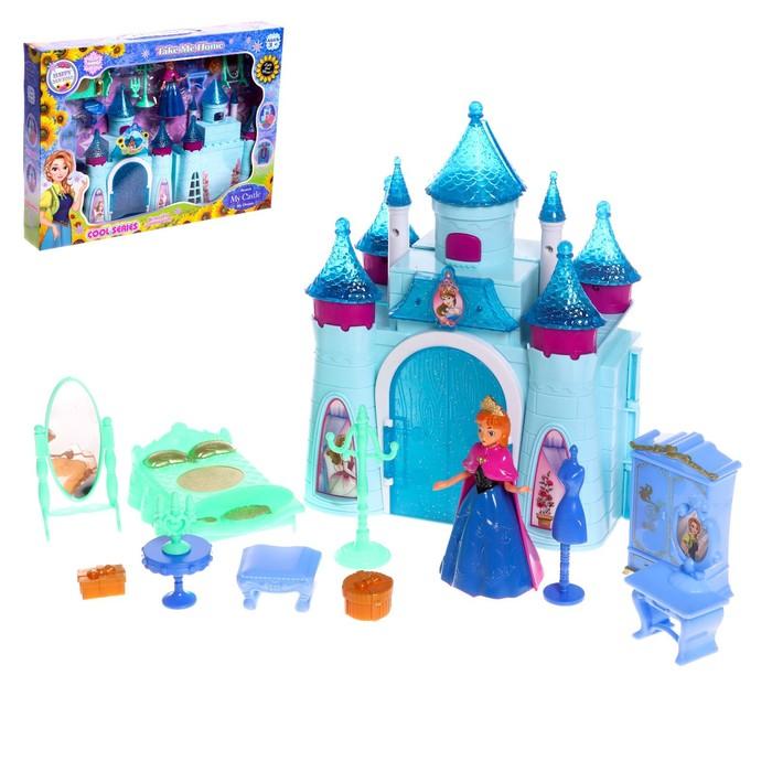 """Замок для кукол """"Чудо"""" с аксессуарами, световые и звуковые эффекты"""