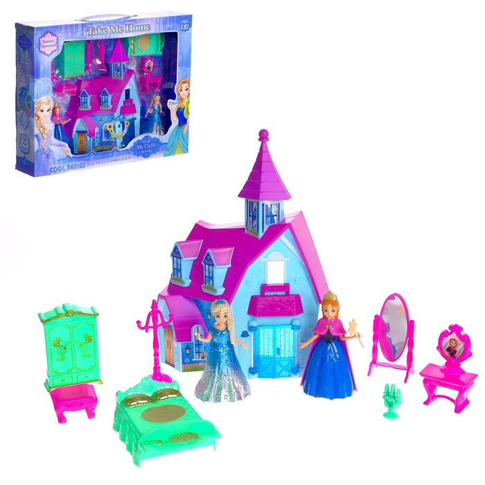 """Замок для кукол """"Принцессы"""" с аксессуарами, световые и звуковые эффекты"""