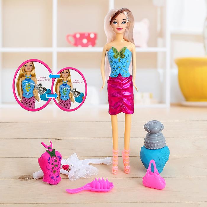 "Кукла модель ""Милена"", меняет цвет корсета, с аксессуарами"