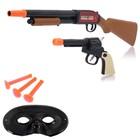 """Набор ковбоя """"Дикий рэйнджер"""", маска, пистолет, ружьё, стреляет присосками"""
