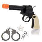 "Набор шерифа ""Дикий шериф"", пистолет, наручники, ключи и значок"