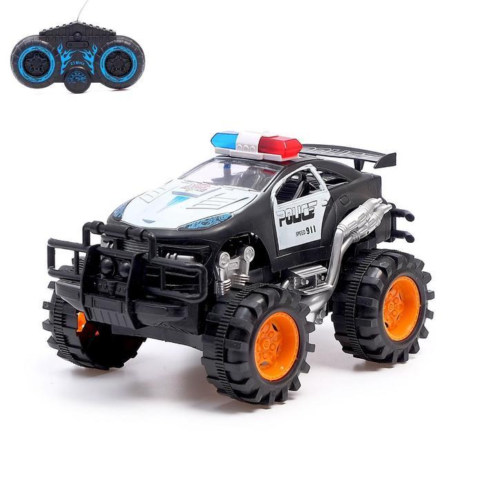 Машина радиоуправляемая «Дорожный патруль», работает от батареек, МИКС - фото 76282179