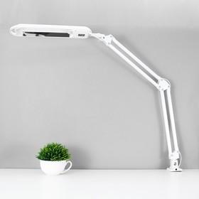 Светильник настольный на струбцине KT008C 1 лампа G23/2G7 11Вт белый
