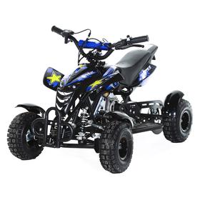 Мини-квадроцикл MOTAX ATV H4 mini-50 cc, черно-синий Ош