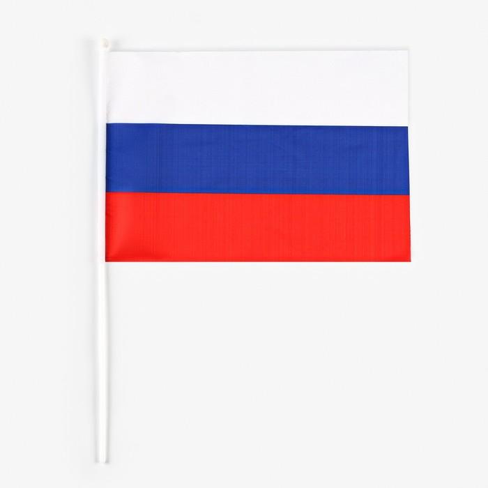 Флаг России 30 × 45 см со штоком
